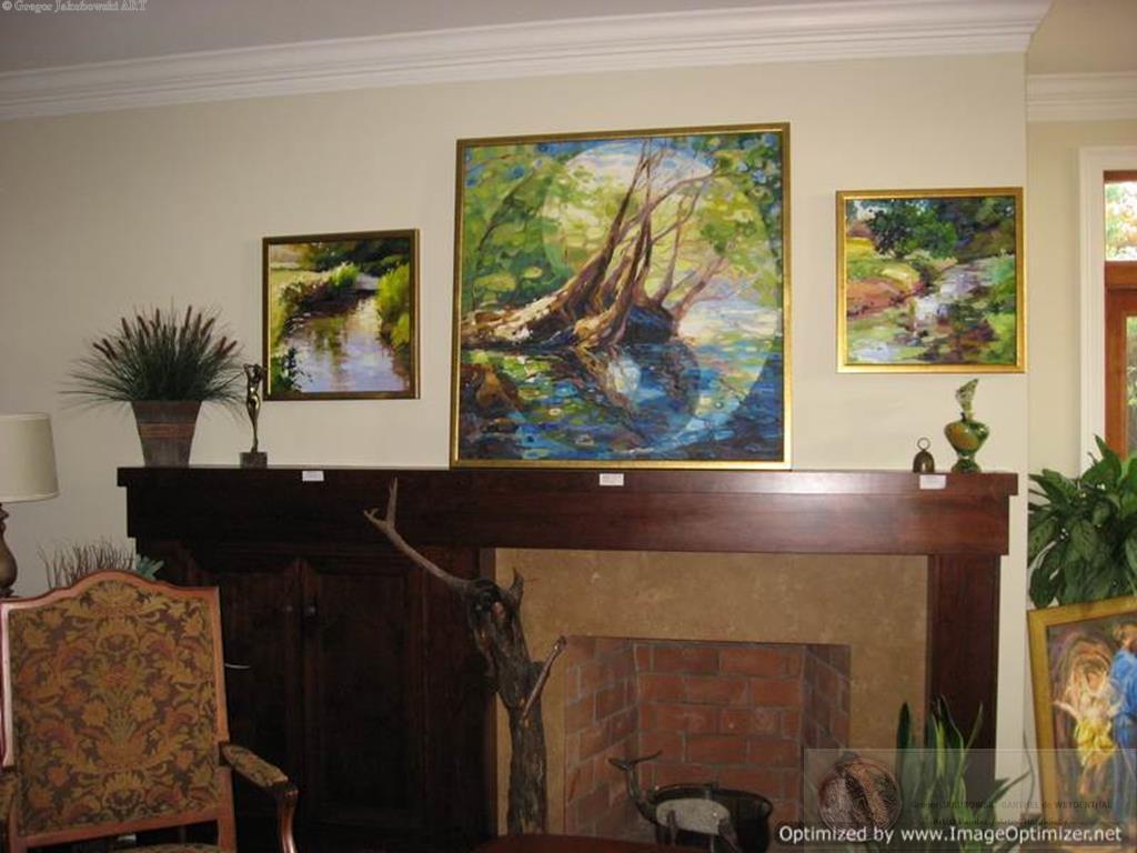 YIN &  YANG, Ewa MASLOWSKA &  Gregor JAKUBOWSKI, oil paintings Kingston, MA, November 7, 2009