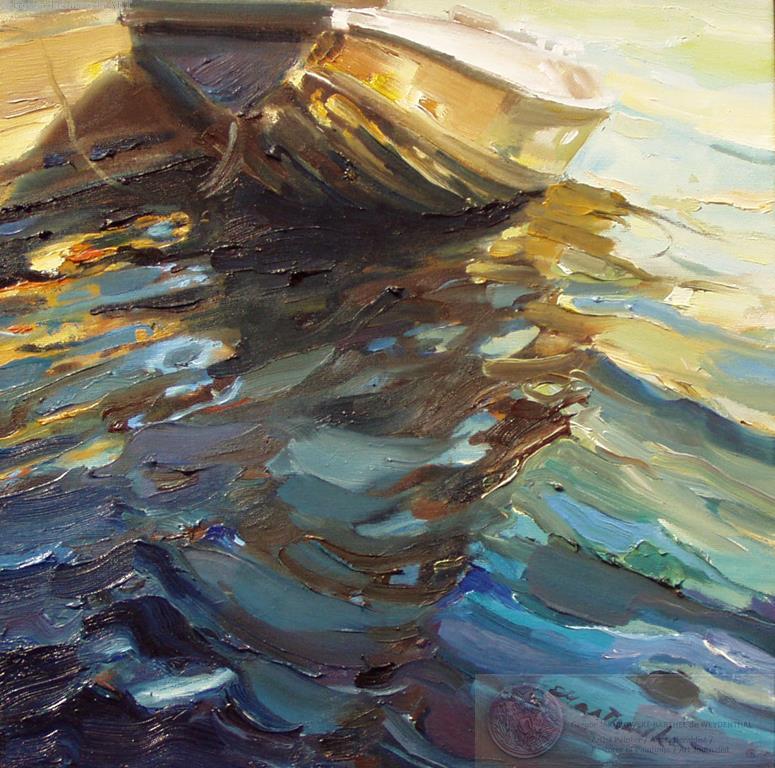 Ewa Maslowska - Boat3 16x16 oil