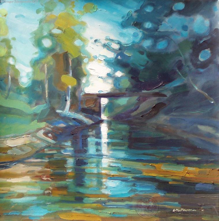 Ewa Maslowska - Canal1 26x26 oil