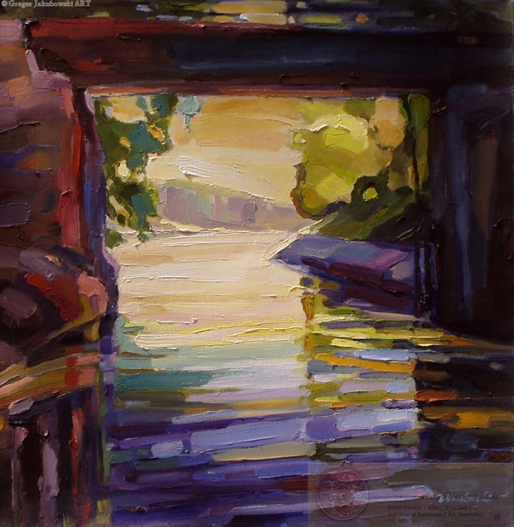 Ewa Maslowska - Canal4 26x26 oil