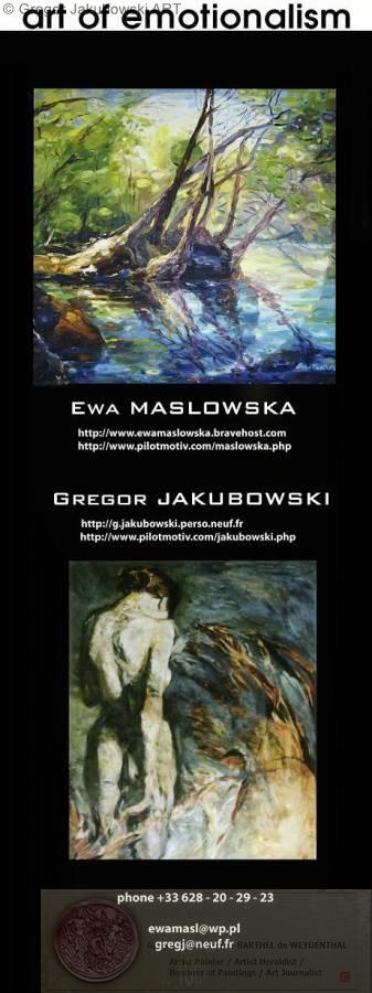YIN & YANG, Ewa MASLOWSKA & Gregor JAKUBOWSKI, oil paintings September 29 to October 10, 2009