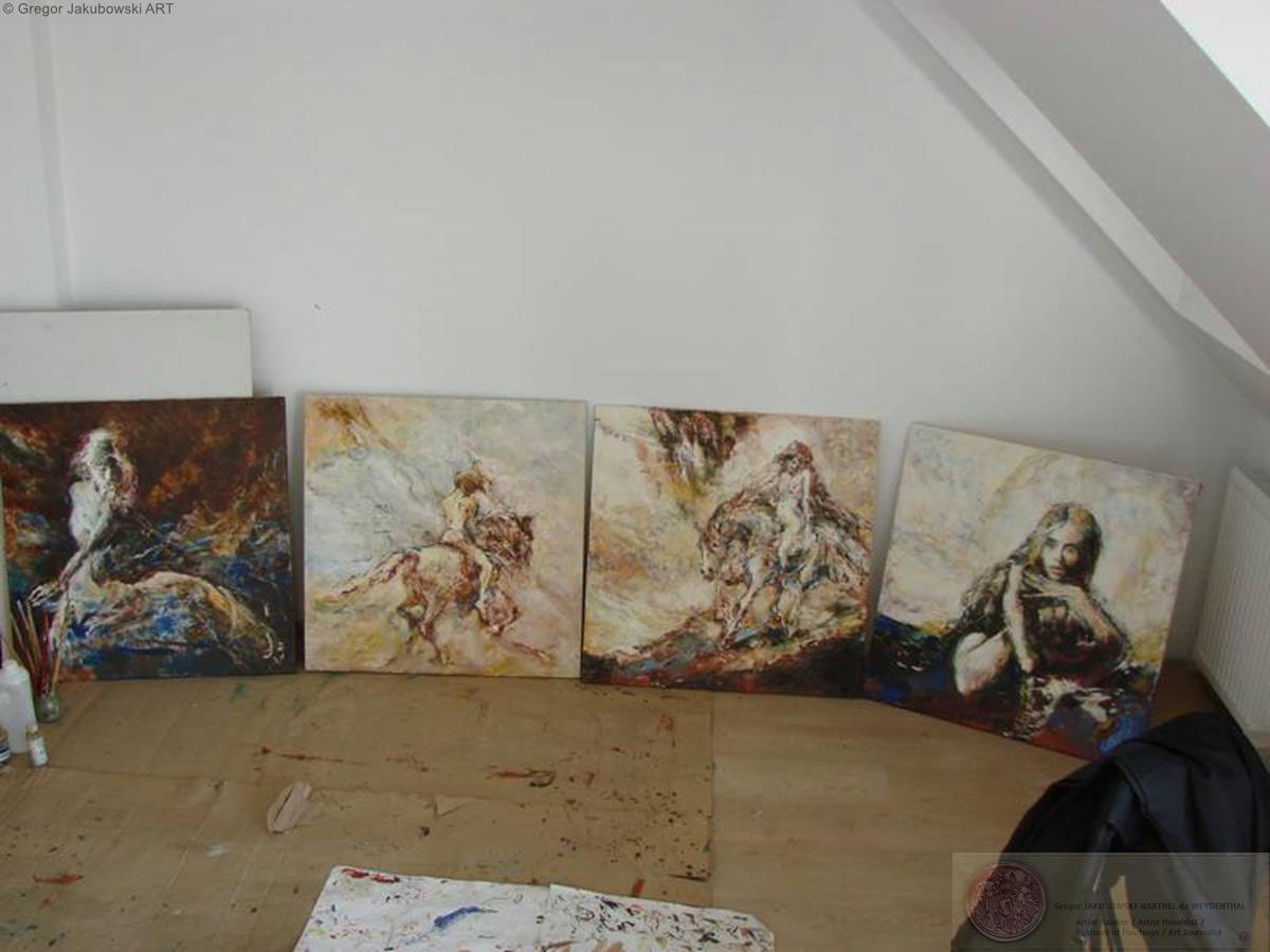 YIN & YANG, Ewa MASLOWSKA & Gregor JAKUBOWSKI, oil paintings;September 29 to October 10, 2009