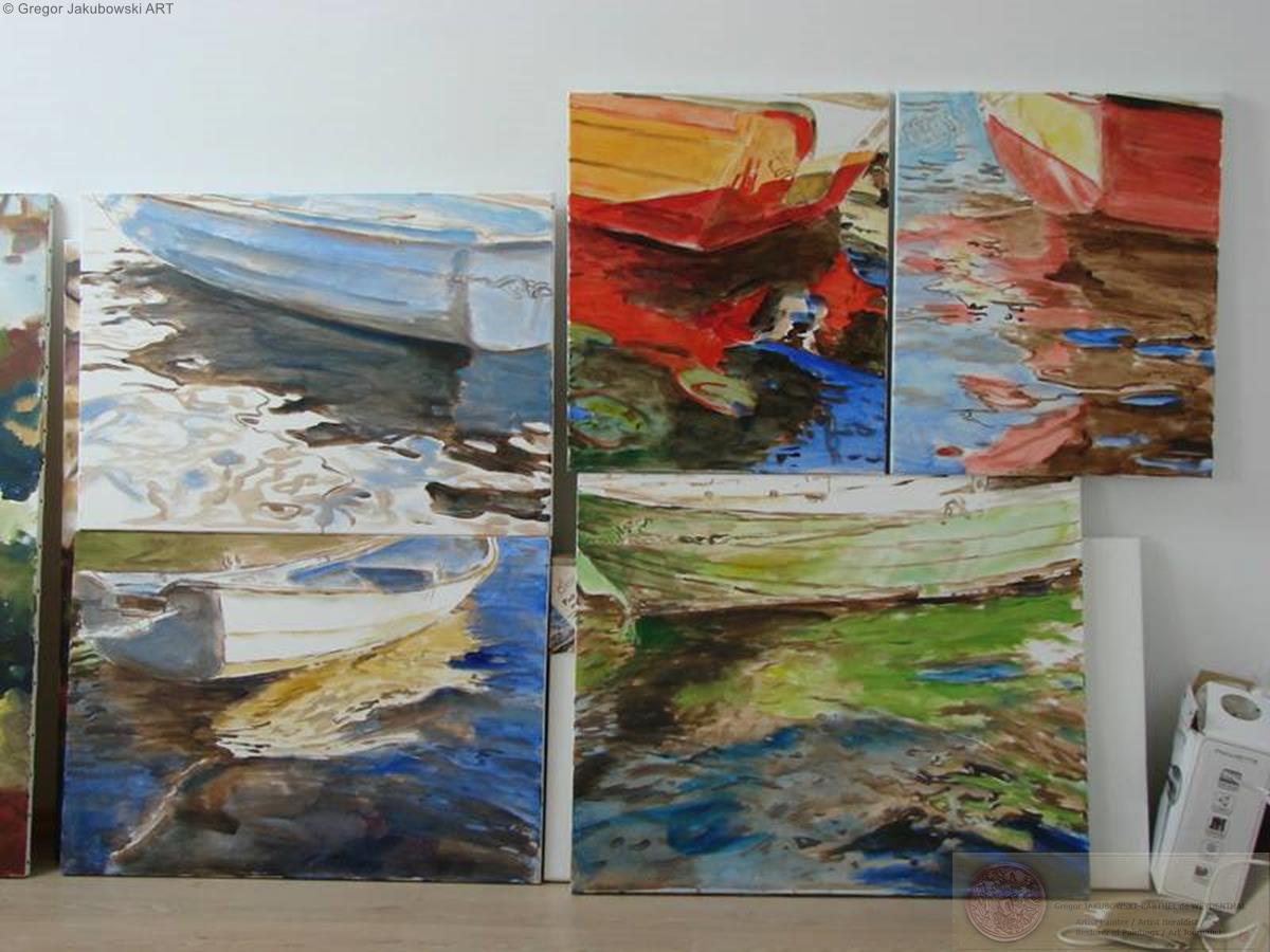 YIN & YANG, Ewa MASLOWSKA & Gregor JAKUBOWSKI, oil paintings; September 29 to October 10, 2009