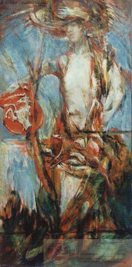 CARYATHIDE I, oil,150x75 cm