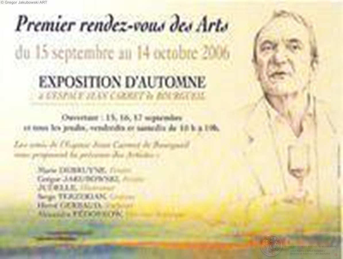 EXPOSITION d'AUTOMNE, Espace Jean Carmet, BOURGUEIL, 15 IX - 14 XI 2006