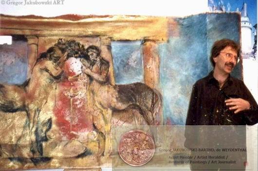 Gregor JAKUBOWSKI, Monument, oil, 298x146 cm, coll.Ville de Saumur