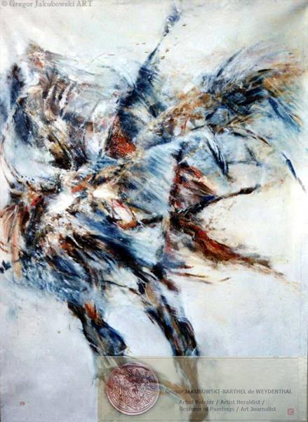 Les PAS, mixed media, 150x110 cm