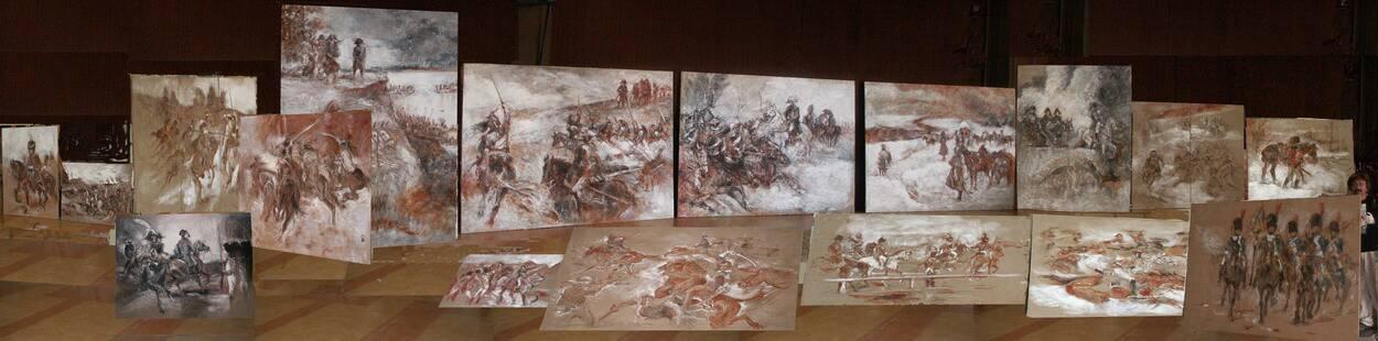 20 paintings of GJ on Napoleon subject