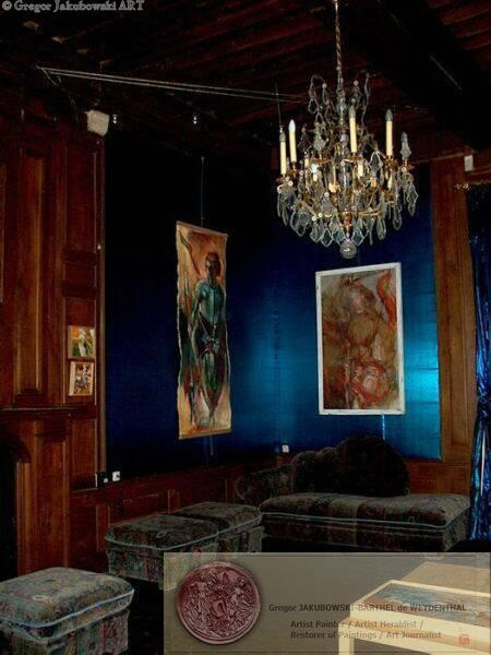 chateau de Saint-Auvent GJ salon bleu