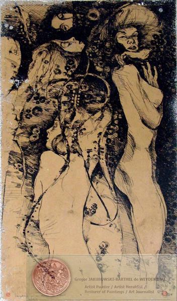 Variations theme de Klimt, ink