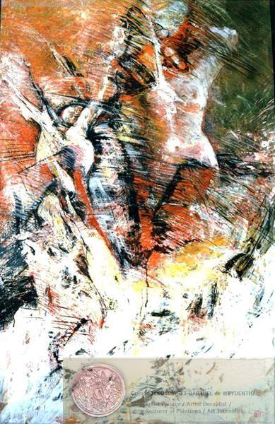 VISIONS IV, mixed media, 150x90 cm