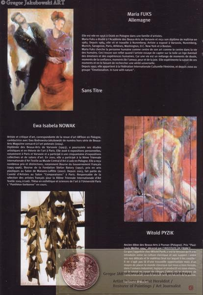 Salon International 2004, Catalogue: FUKS,NOWAK,PYZIK