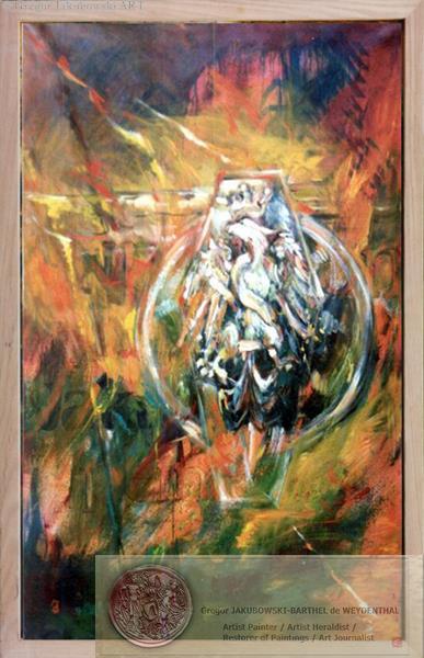 Impressions Heraldiques II Aigle Blanc Jagellon 146x89