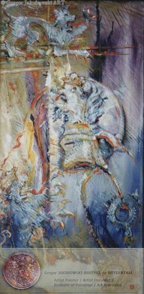 Lion Heraldique. 100x50