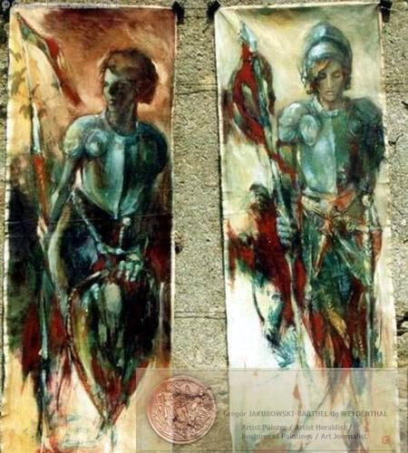 HERALDIC paintings