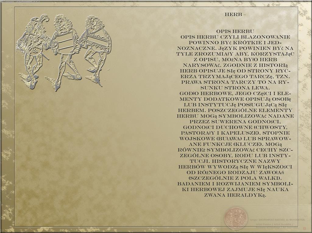 HERBY. Jezyk Znakow, Jezyk Obrazow - GrzegorzJakubowski - Blazonowanie