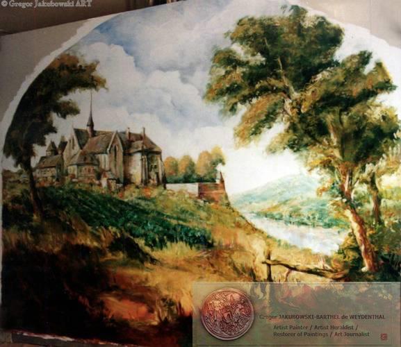 Wine Museum in Paris : Paysage de Passy, oil painting