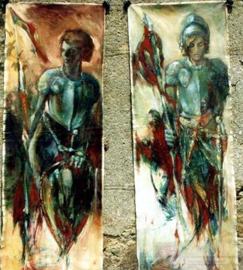 G.J. EXHIBITIONS & HERALDIC paintings