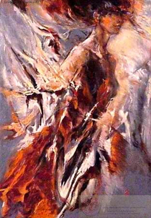 STEM FIGURE - FIGUREHEAD, oil 116x73 cm