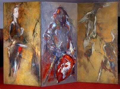 Licorne Paravent, 3 x 150x75 cm